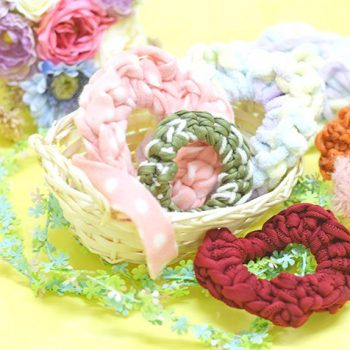 【動画】毛糸とゴムだけで♡5分で簡単ゆび編みシュシュ